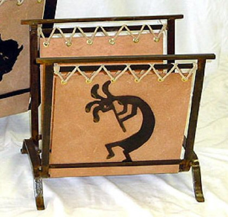Small Choice Southwest Metal Magazine Rack, 66 Designs