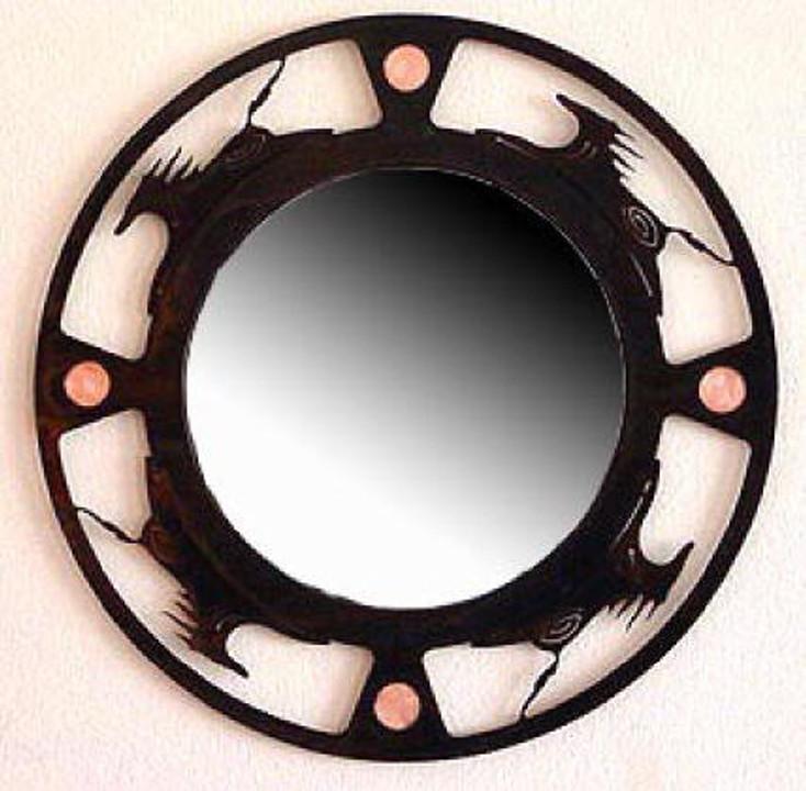 Spirit Horse Metal Wall Mirror