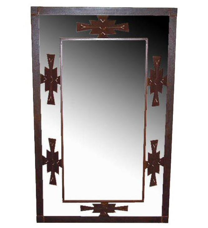 Aztec 3-D Metal Wall Mirror