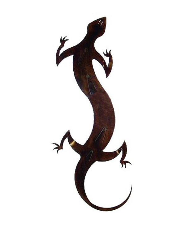 Small Gecko Metal Wall Art
