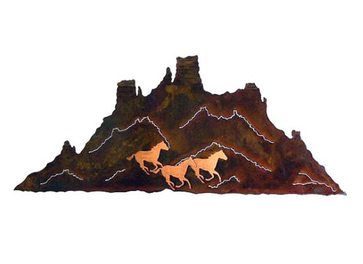 Painted Desert Metal Wall Art