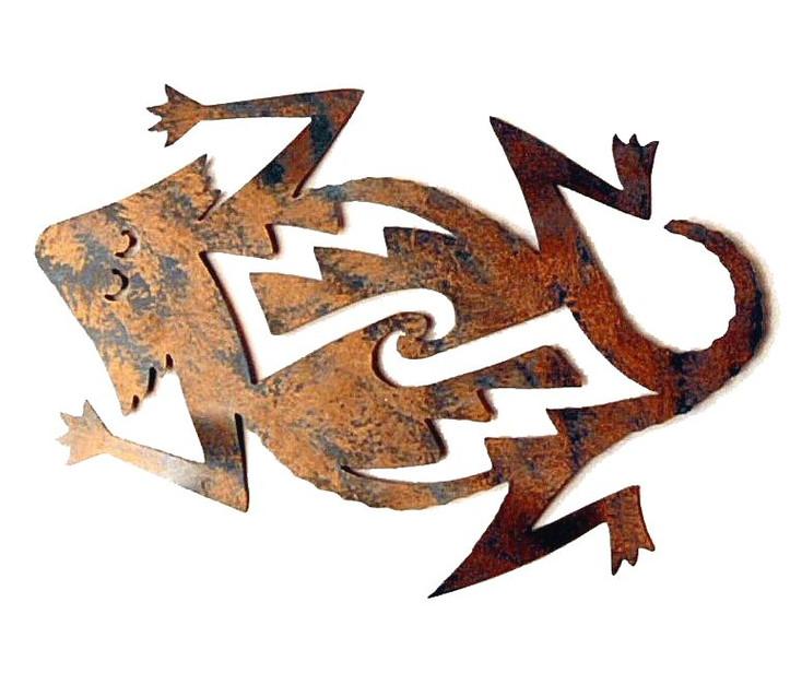 Mom Horny Toad Metal Wall Art