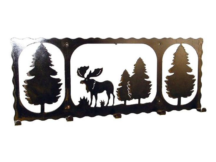 Alpine Moose 5 Hook Metal Coat Rack