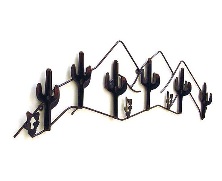 Cacti 6 Hook Metal Coat Rack