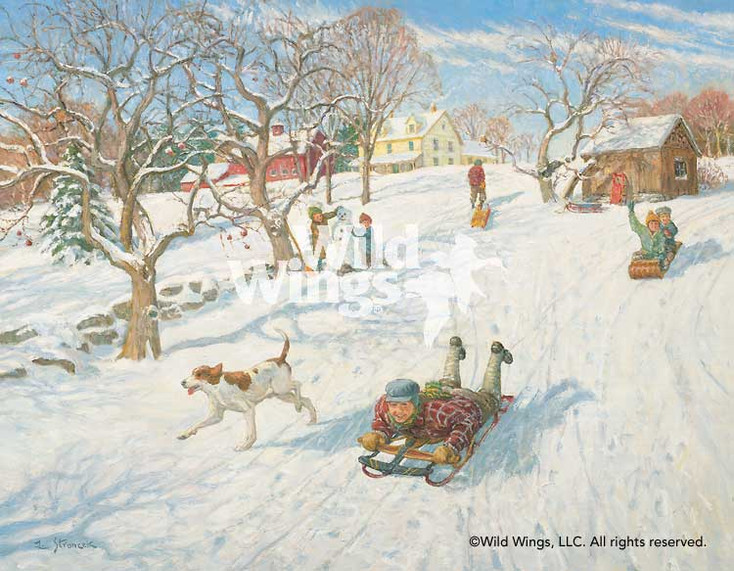 The New Sled Limited Edition Wrapped Canvas Giclee Art Print Wall Art