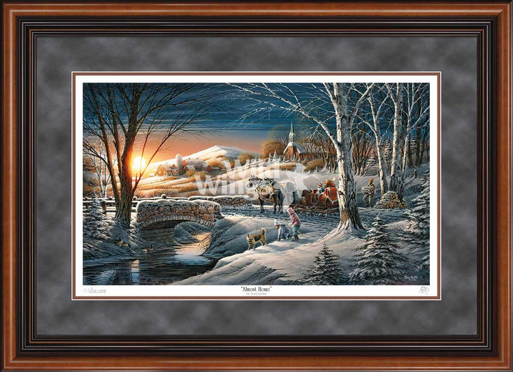 Almost Home Limited Edition Walnut Framed Art Print Wall Art