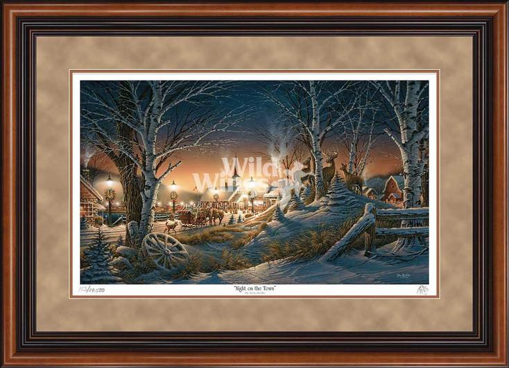 Night on the Town Limited Edition Walnut Framed Art Print Wall Art