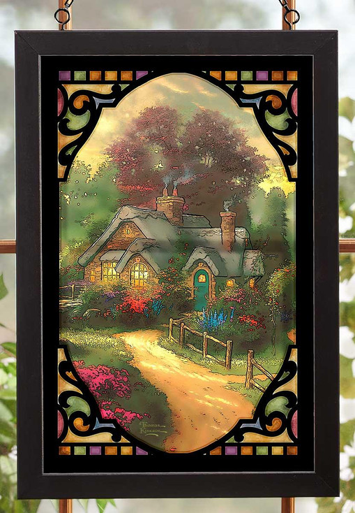 A New Day Dawning Stained Glass Wall Art
