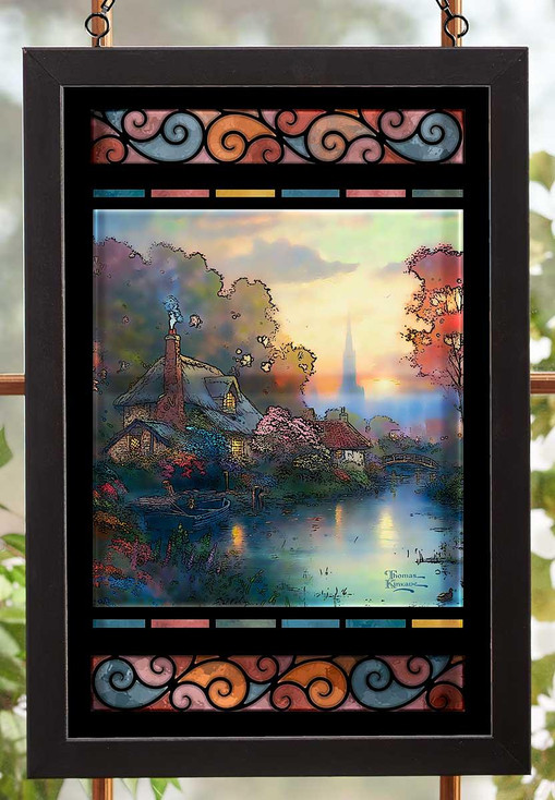Nanette's Cottage Stained Glass Wall Art
