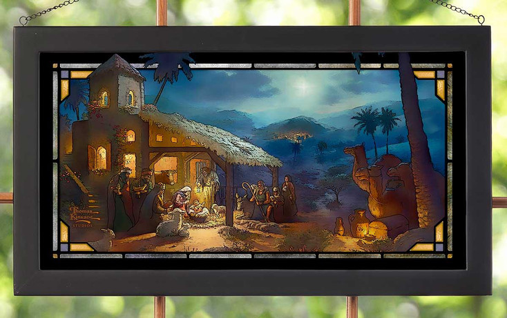 The Nativity Stained Glass Wall Art
