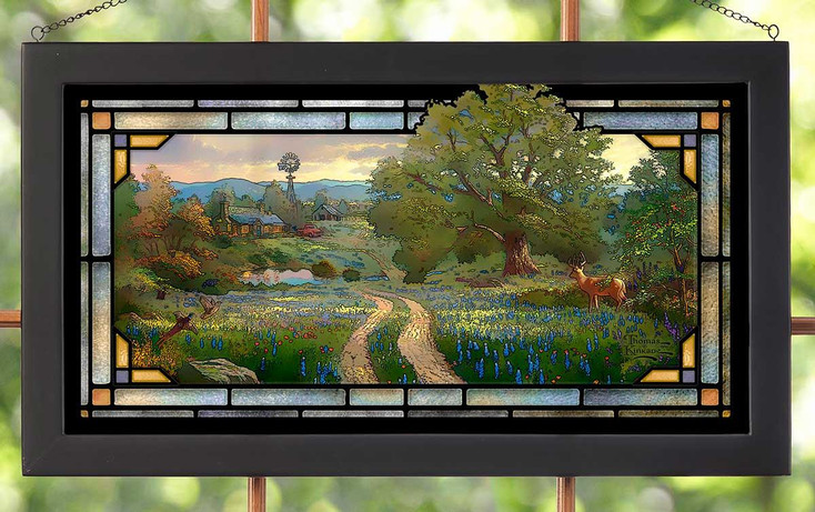 Country Living Stained Glass Wall Art