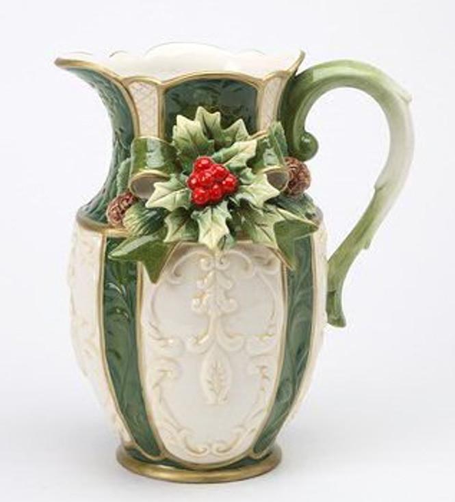 Holly Porcelain Pitcher