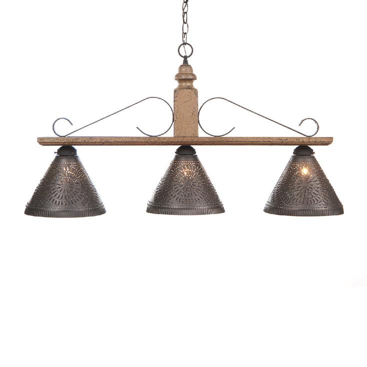 Americana Pearwood Wellington Large Punched Chisel Pierced Tin Island Light
