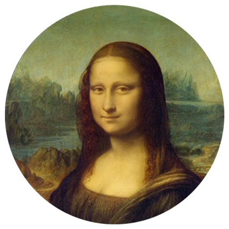 Mona Lisa Glass Paperweight by Leonardo DaVinci