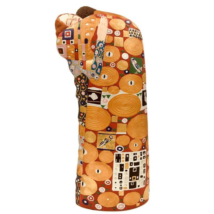 Large Fulfillment Lovers Embracing Statue by Gustav Klimt
