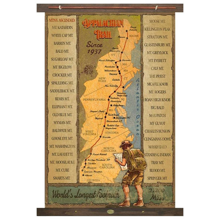 Custom Appalachian Trail Since 1937 Canvas Tapestry