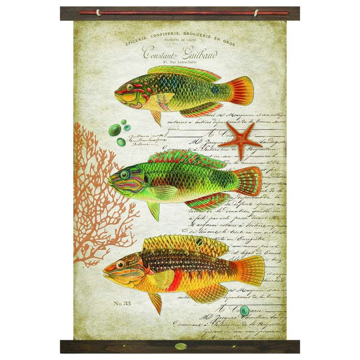 Custom Tropic Fish Canvas Tapestry
