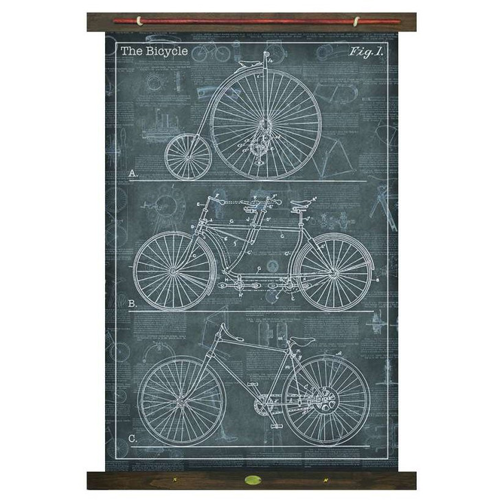 Custom The Bicycle Canvas Tapestry