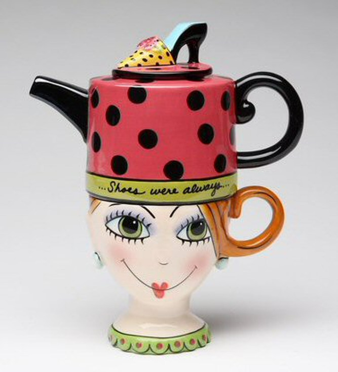 Shoes on Her Mind Ceramic Teapot for One
