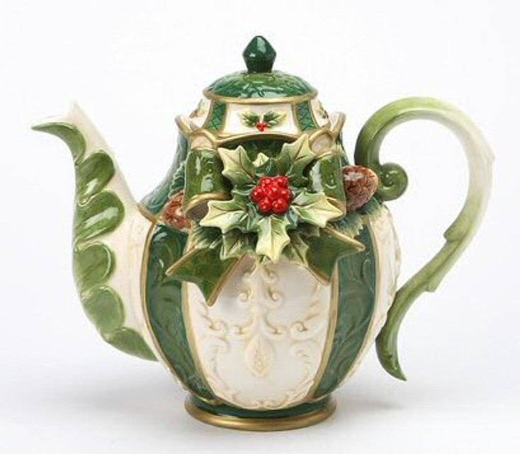 Holly Porcelain Teapot