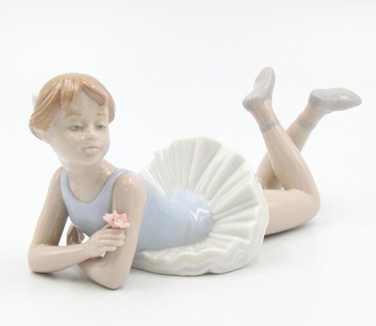 Ballerina Lying Down Porcelain Sculpture by Nadal