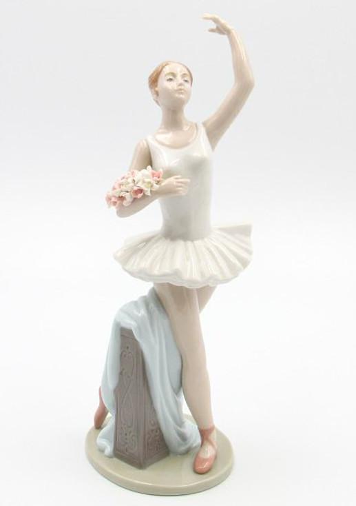 Ballerina Posing Porcelain Sculpture by Nadal