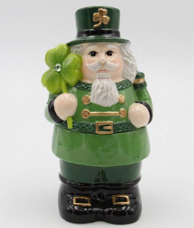 Irish Nutcracker Porcelain Candy Box Jar