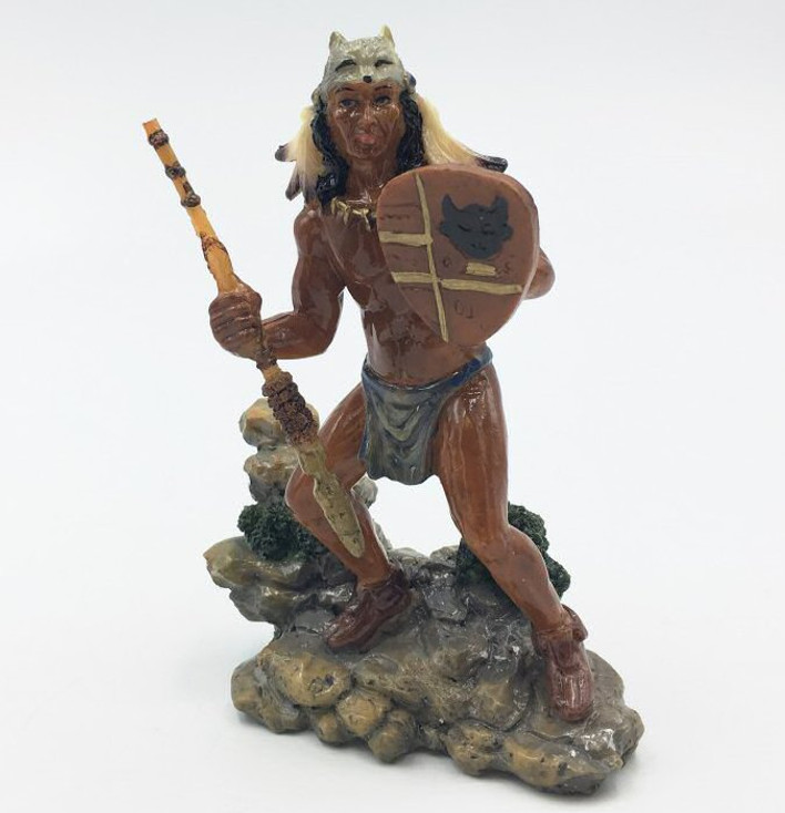 Indian Warrior Porcelain Sculpture