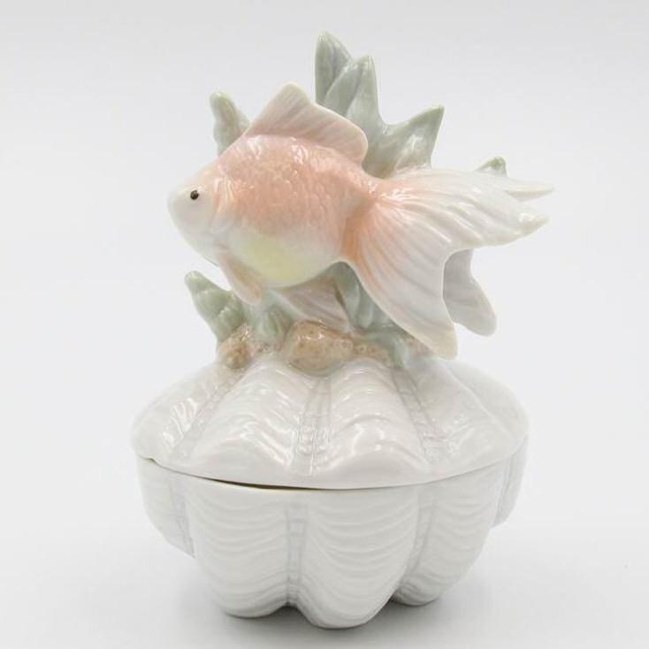 Goldfish Porcelain Trinket Box