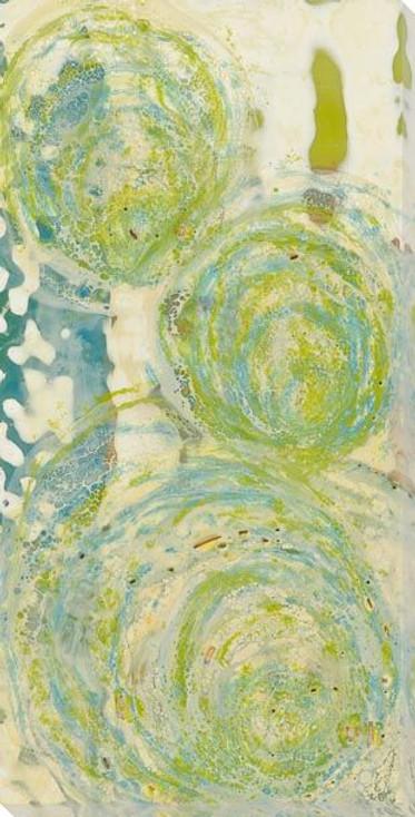 Elliptical Blue Wrapped Canvas Giclee Art Print Wall Art