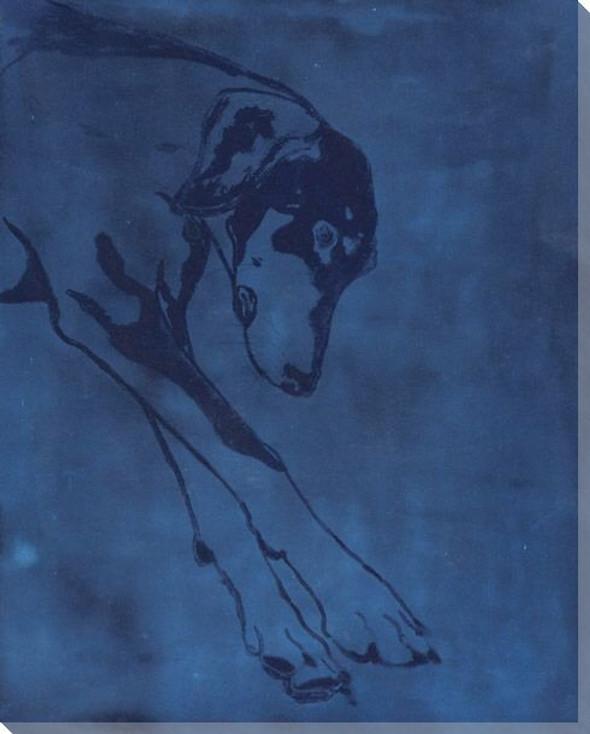 Daniel Dreams Dog Wrapped Canvas Giclee Art Print Wall Art