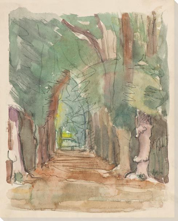 Pathway Trees Wrapped Canvas Giclee Art Print Wall Art