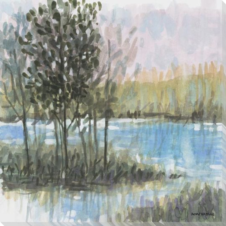 Laurel Grove 4 Wrapped Canvas Giclee Art Print Wall Art