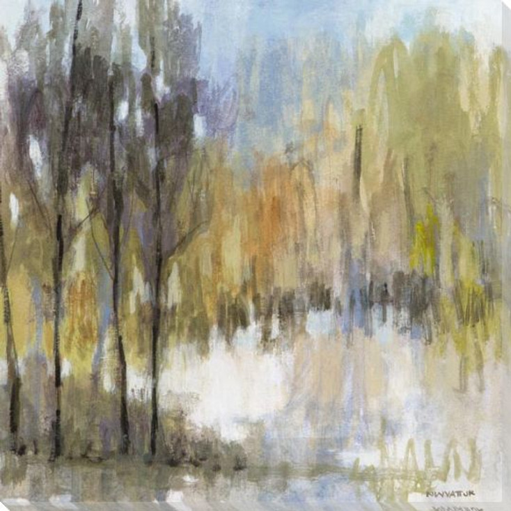 Muted Woodland III Wrapped Canvas Giclee Art Print Wall Art