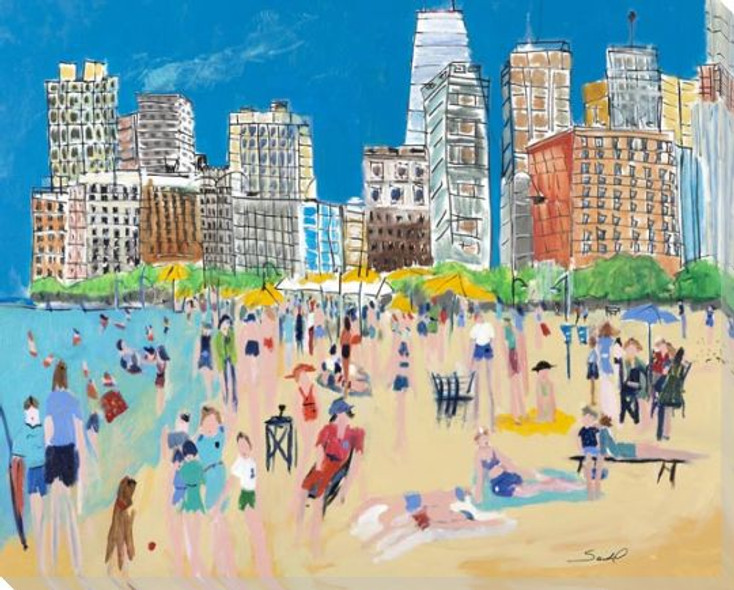 Chicago Wrapped Canvas Giclee Art Print Wall Art