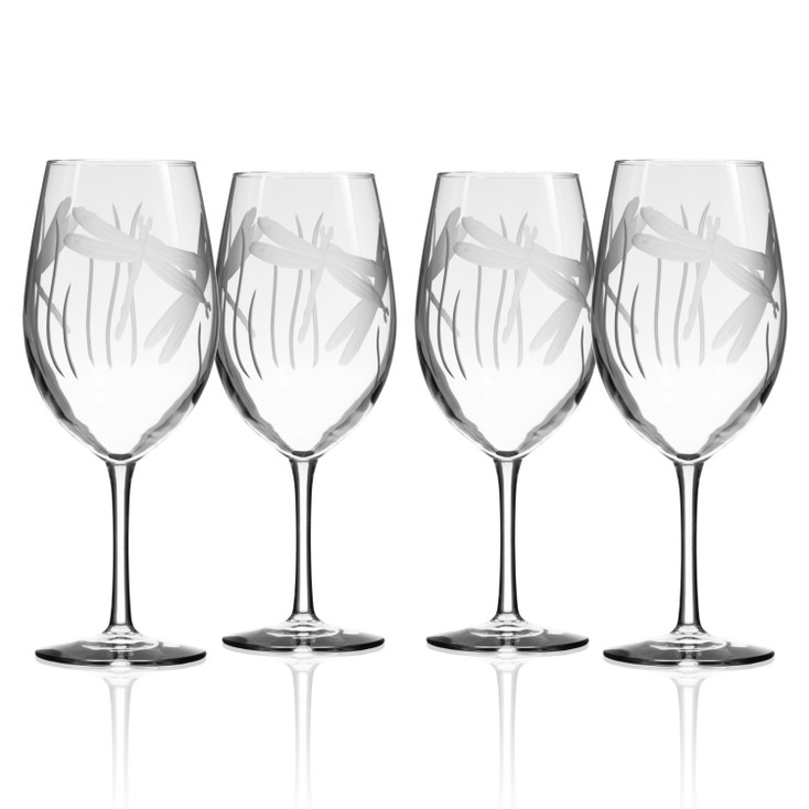 Dragonfly All Purpose Wine Glasses, Set of 4