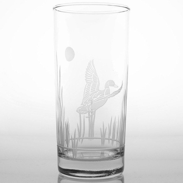 Duck in the Reeds High Ball Glasses, Set of 4