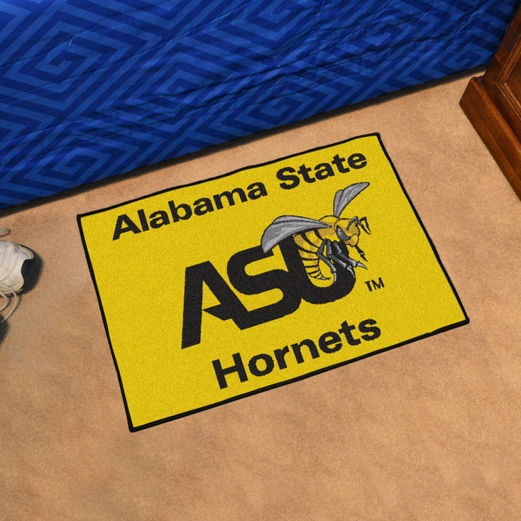 "19"" x 30"" Alabama State University Yellow Rectangle Starter Mat"
