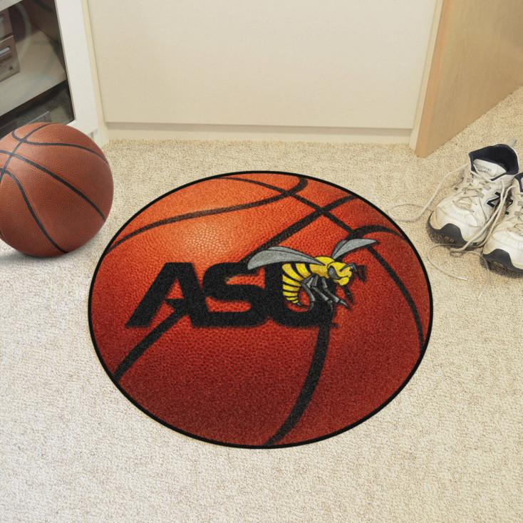 """27"""" Alabama State University Basketball Style Round Mat"""