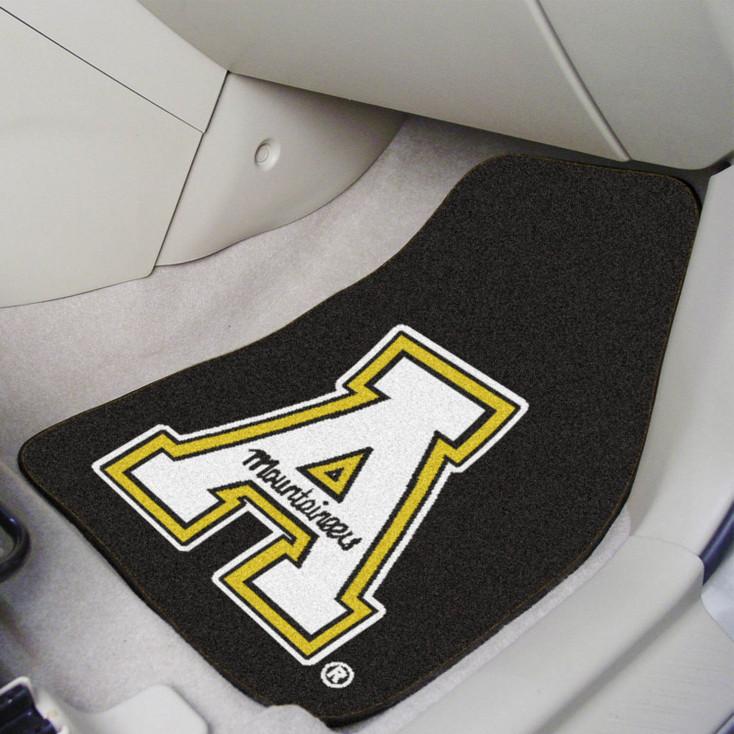 Appalachian State University Black Carpet Car Mat, Set of 2