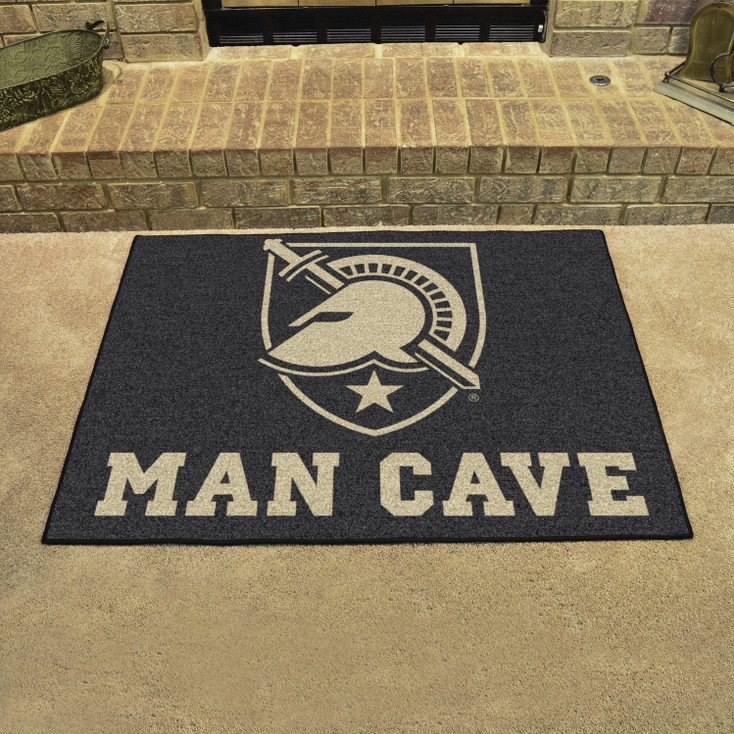 """33.75"""" x 42.5"""" U.S. Military Academy (Army) Man Cave All-Star Black Rectangle Mat"""