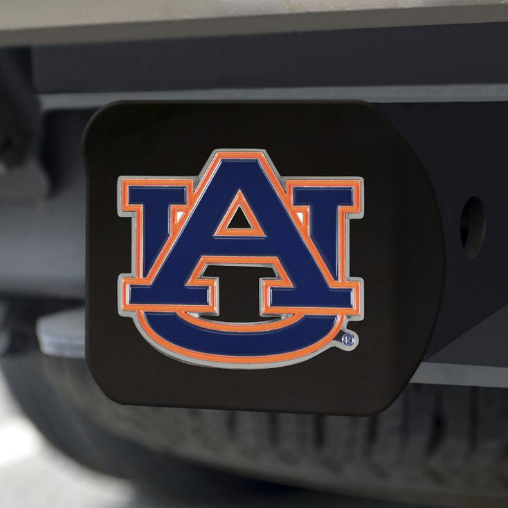 Auburn University Hitch Cover - Color on Black