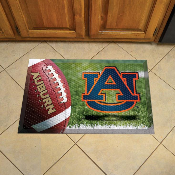 """19"""" x 30"""" Auburn University Rectangle Scraper Mat - """"AU"""" Logo"""