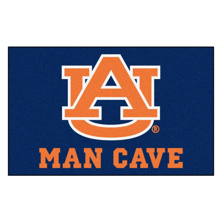 "59.5"" x 94.5"" Auburn University Man Cave Navy Blue Rectangle Ulti Mat"
