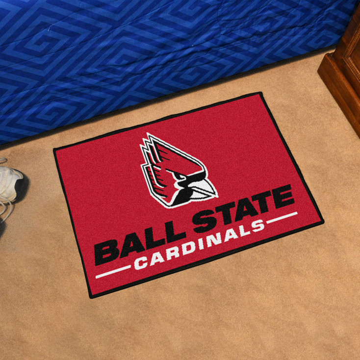 "19"" x 30"" Ball State University Red Rectangle Starter Mat"