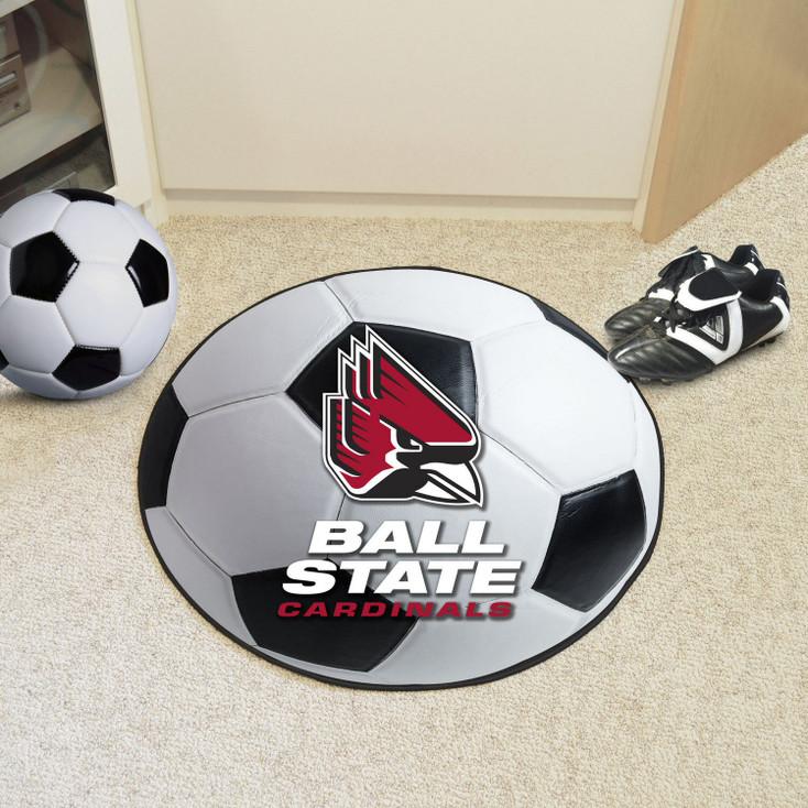 "27"" Ball State University Soccer Ball Round Mat"