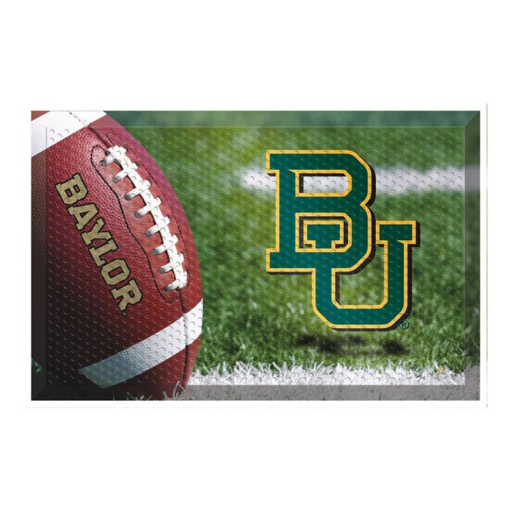 "19"" x 30"" Baylor University Rectangle Scraper Mat - ""BU"" Logo"