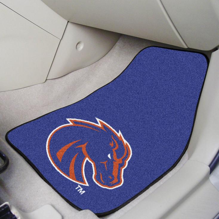 Boise State University Blue Carpet Car Mat, Set of 2