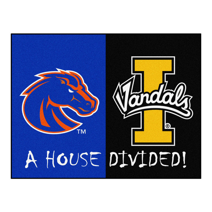 """33.75"""" x 42.5"""" Boise State / Idaho House Divided Rectangle Mat"""