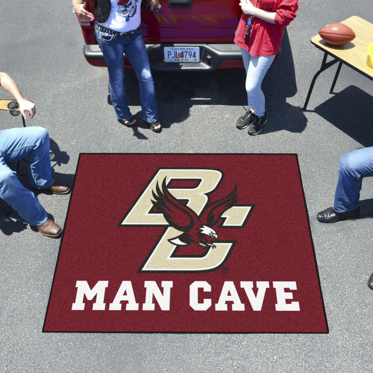 "59.5"" x 71"" Boston College Man Cave Tailgater Maroon Rectangle Mat"